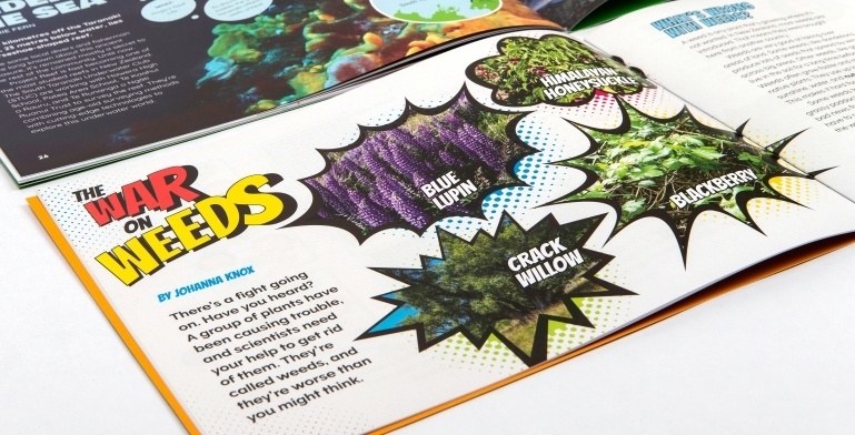 "Spread of the article ""War of Weeds"" from a Connected book"