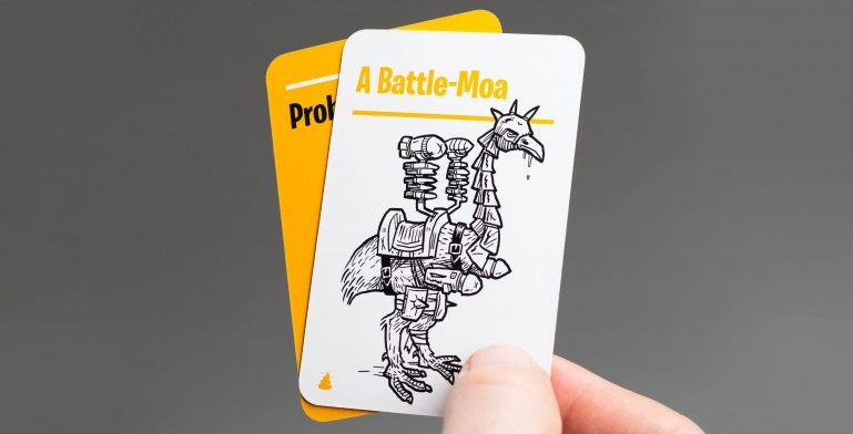 Example of an Idea Card: Battle Moa